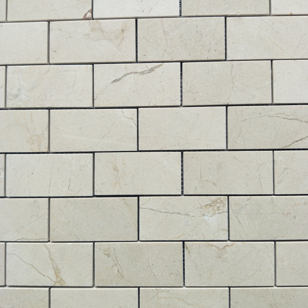 "Crema Marfil 2""× 4"" Brick Subway Marble Tile Honed (172 sq.ft.) (180 Sheets)"