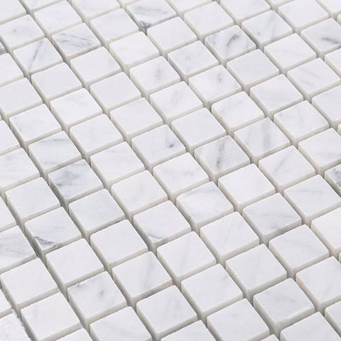 Square Carrara Marble Tile 5/8