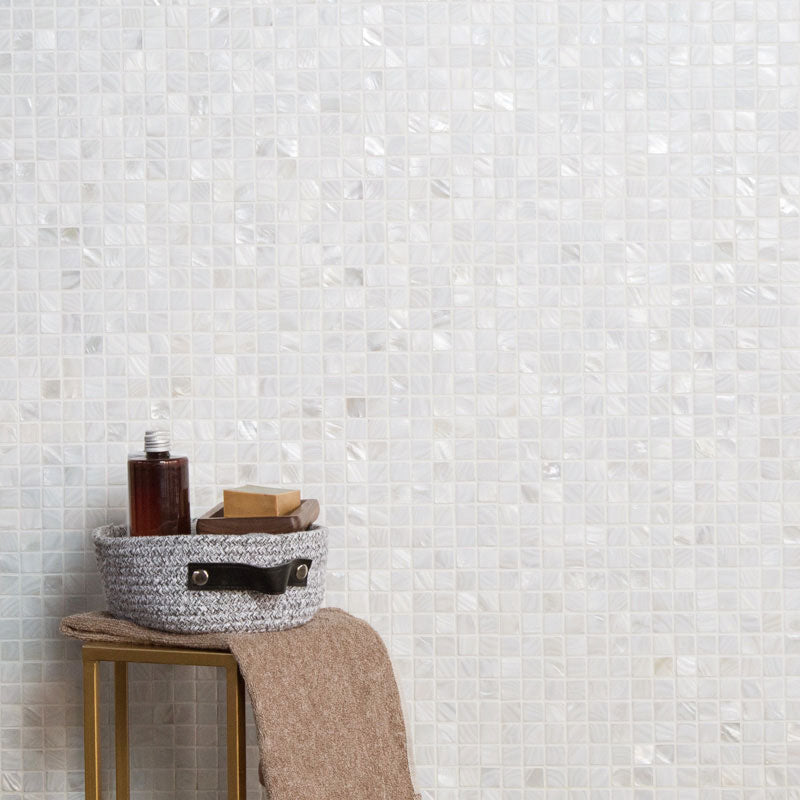 Super White Mother Of Pearl Shell Mosaic Square Mosaic Tile