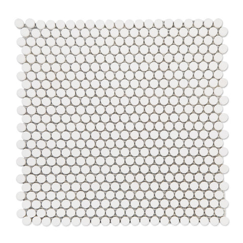 Thassos White Marble 1/2 inch Penny Round Mosaic Tile Pack of 5
