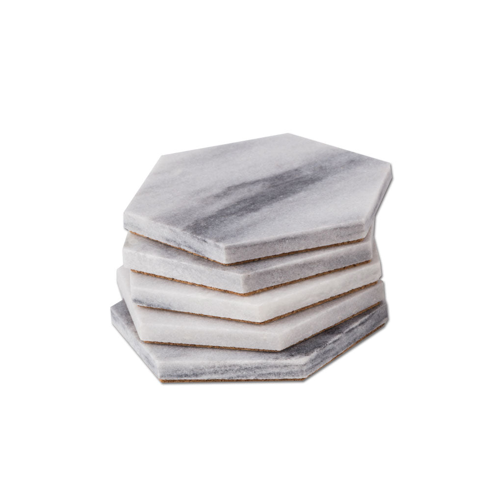 Cesar Blue Marble Coaster 6 Pack