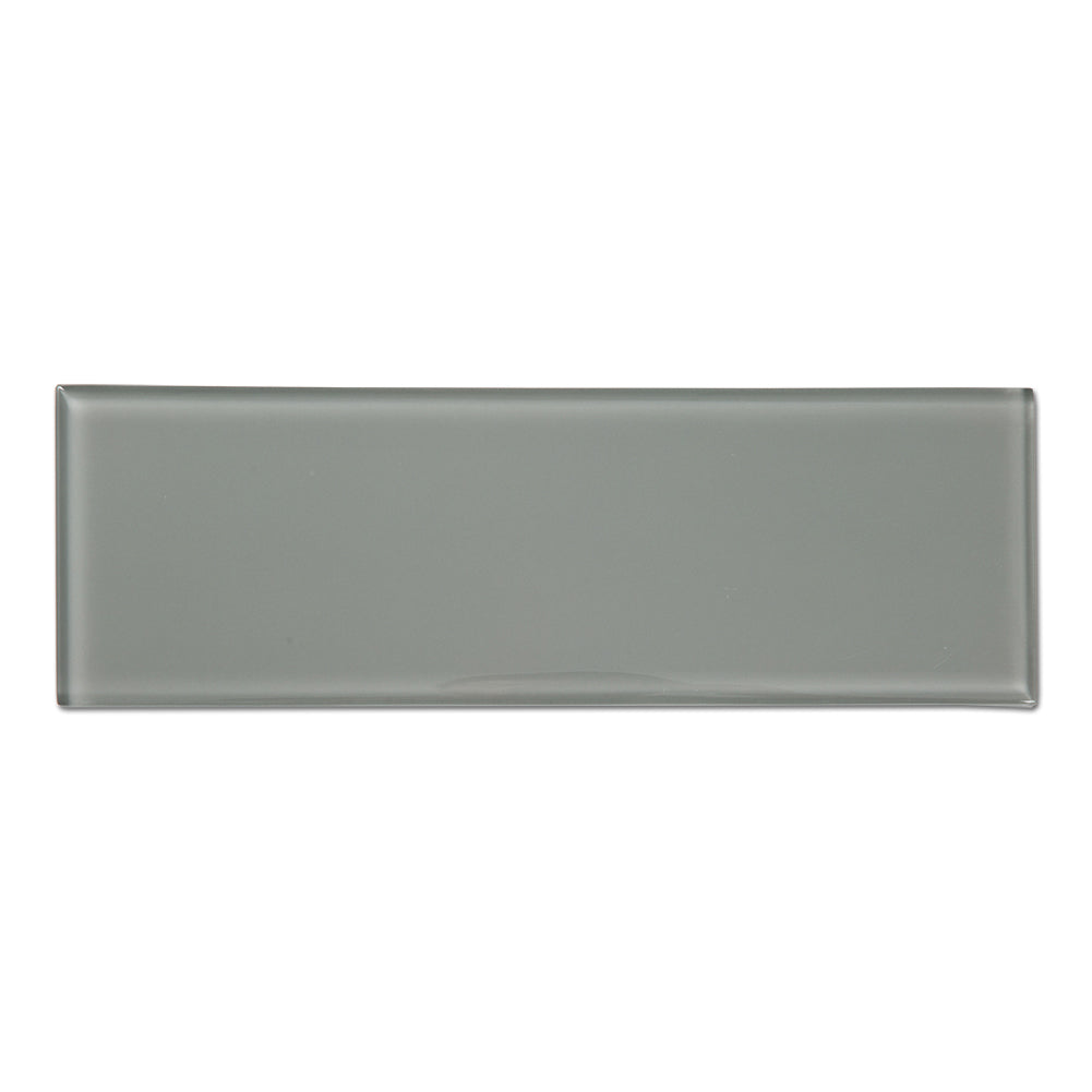 4x12 Smoke Grey Glass Tile Subway Tile