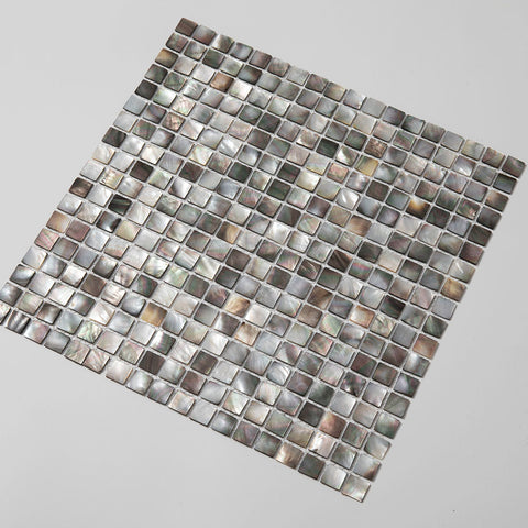 Black Lip Shell Square Mosaic Tile (10 Sheets)