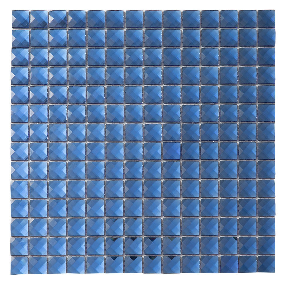 Blue Glass Bling Mirror Mosaic Tile (5 sheets)