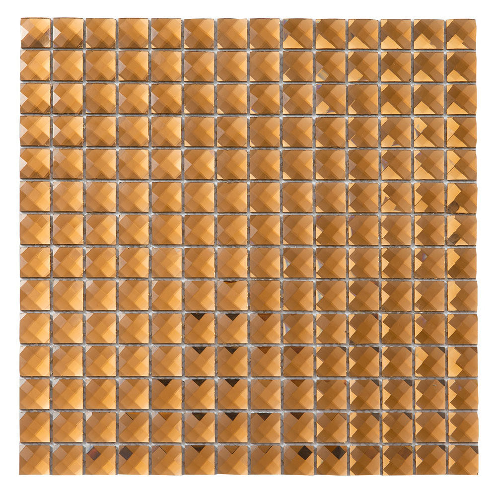 Brown Glass Bling Mirror Mosaic Tile (5 sheets)