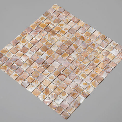Dark Colorful Pearl Shell Square Mosaic Tile  (10 Sheets)