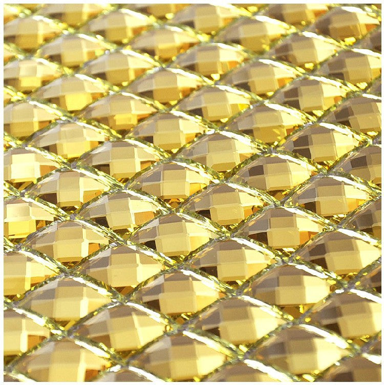 Gold Glass Bling Mirror Mosaic Sample