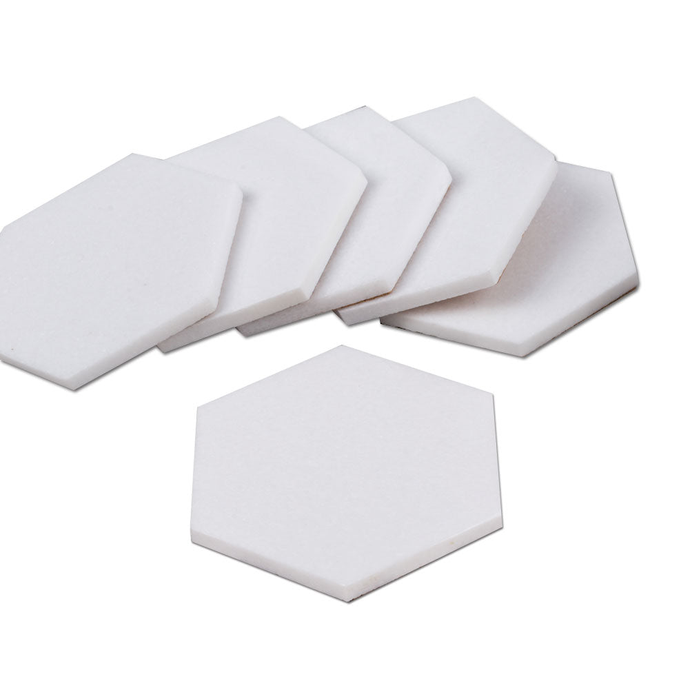 Thassos Marble Coaster 6 Pack