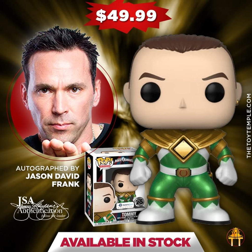 Funko POP! Tommy Green Ranger Power Rangers #669 [Autographed]