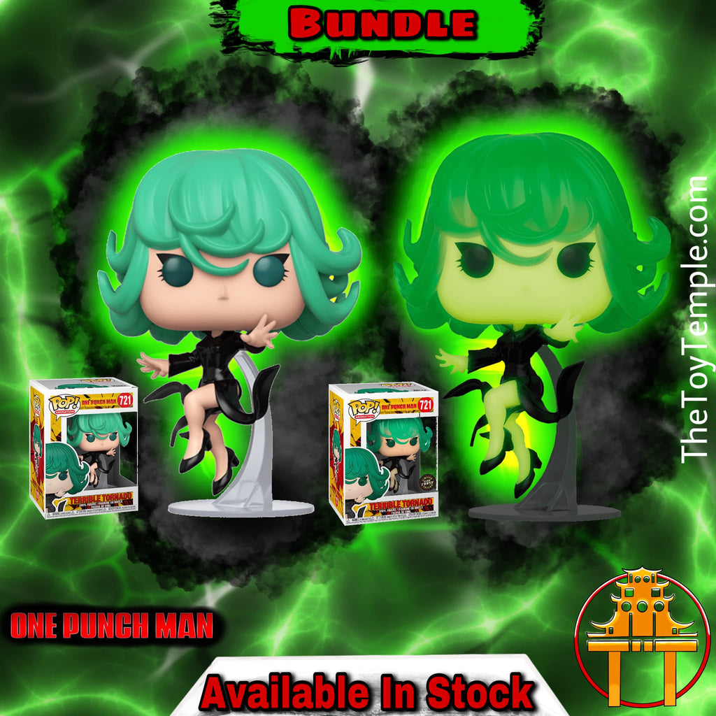 2x Funko POP! Terrible Tornado One Punch Man #721 [Common and Chase Bundle]