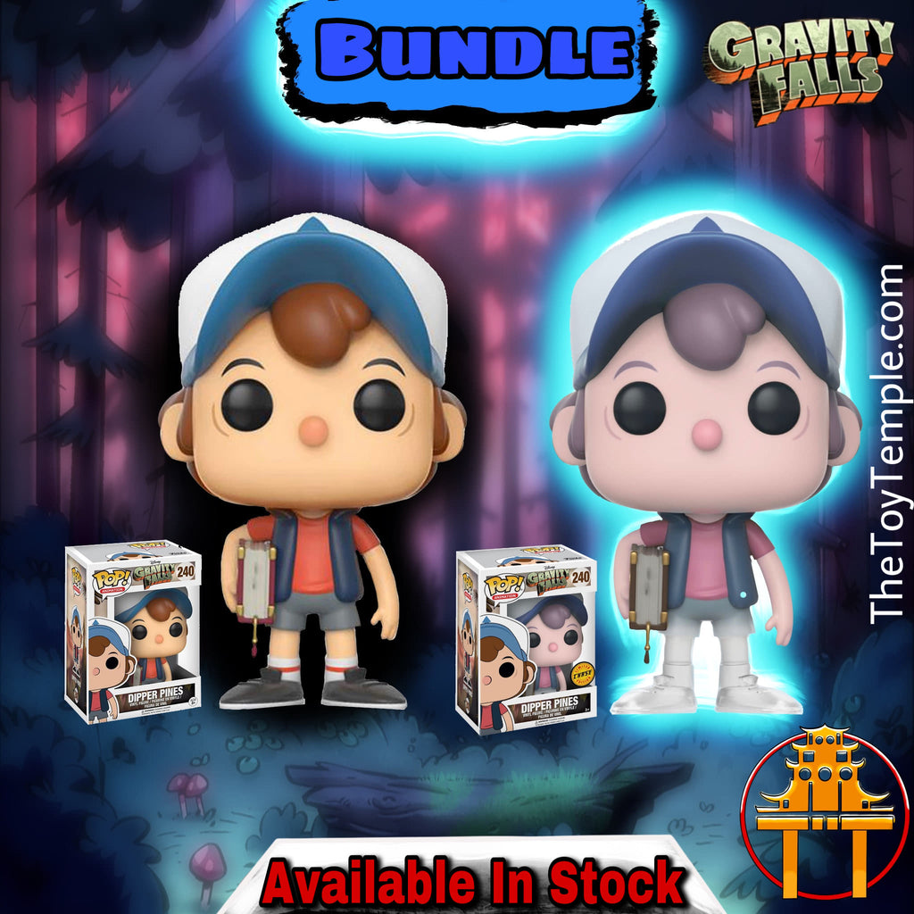 2x Funko POP! Dipper Pines Disney Gravity Falls #240 [Common and Chase Bundle]