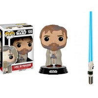 Funko POP! Luke Skywalker and Official Rubies Lightsaber Star Wars Bundle