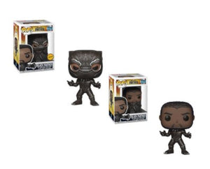 2X Funko POP! Black Panther #273 Marvel Black Panther [Common and Chase Bundle]