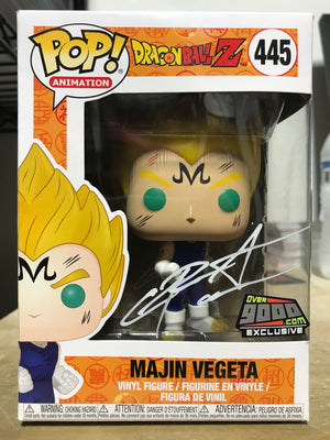 Funko POP! Majin Vegeta Dragonball Z #445 [Over9000.com Exclusive] [White Autograph]