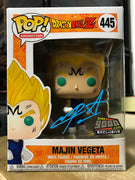 Funko POP! Majin Vegeta Dragonball Z #445 [Over9000.com Exclusive] [Blue Autograph]