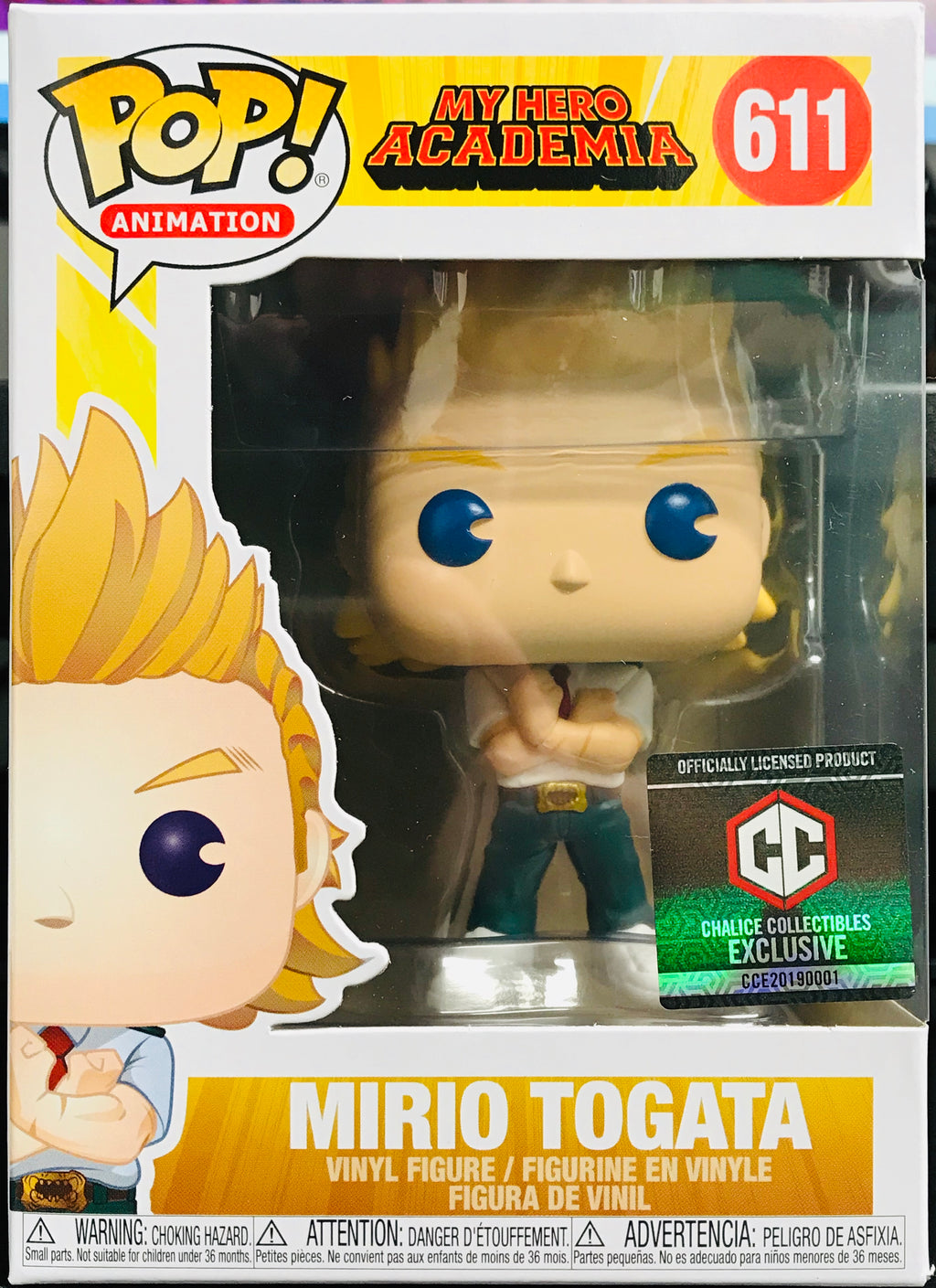 Funko POP! Mirio Togata My Hero Academia #611 [Chalice Collectibles Exclusive]