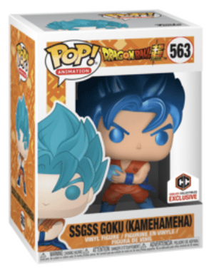 Funko POP! SSGSS Goku Metallic Dragon Ball Super #563 [Chalice Exclusive]