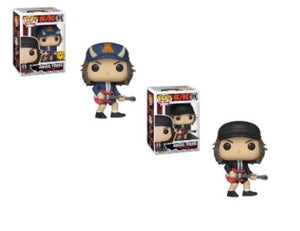 2x Funko POP! Angus Young AC / DC #91 [Common and Chase Bundle]