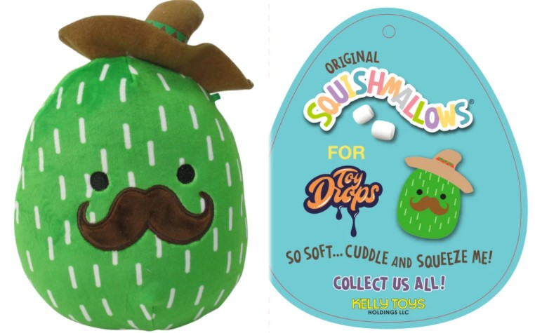 "Squishmallow 7"" Marcellus the Cactus with Mustache and Sombrero Super Soft Mochi Squishy Plush Toy"