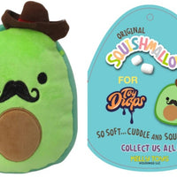 "Squishmallow 7"" Austin the Avocado Cowboy with Mustache Super Soft Mochi Squishy Plush Toy"