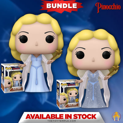 2x Funko POP! Blue Fairy Disney Pinocchio #1027 [Common and Chase Bundle]