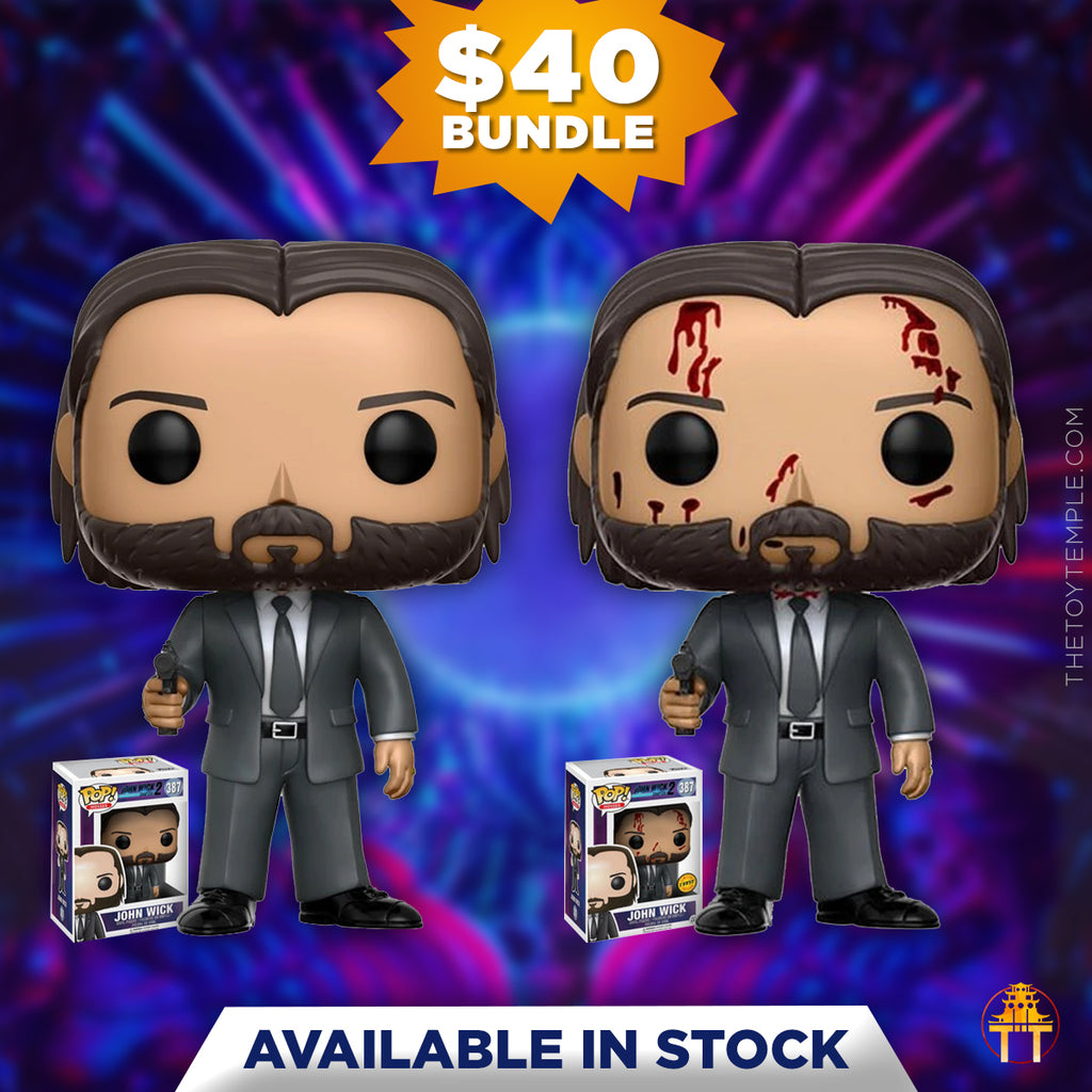 2x Funko POP! John Wick Chapter 2 #387 [Common and Chase Bundle]
