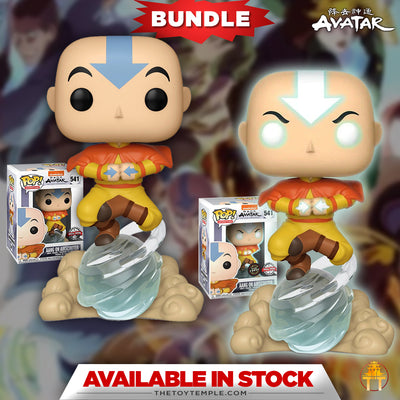 2X Funko POP! Aang on Airscooter Avatar the Last Airbender #541 [Common and Chase Bundle]