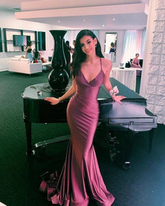 Prom Dress,Mermaid Sleeveless Formal Long Prom Dress 1037