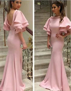 long Prom Dress,pink Prom Dress ,Satin Prom dress 1086