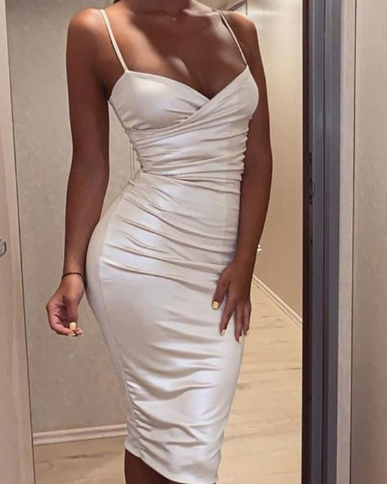 Bodycon Sleeveless Ruched Homecoming Dress 1105