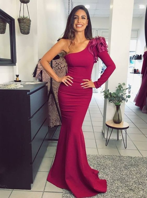 One Shoulder Prom Dresses ,Charming Prom Dress 1139