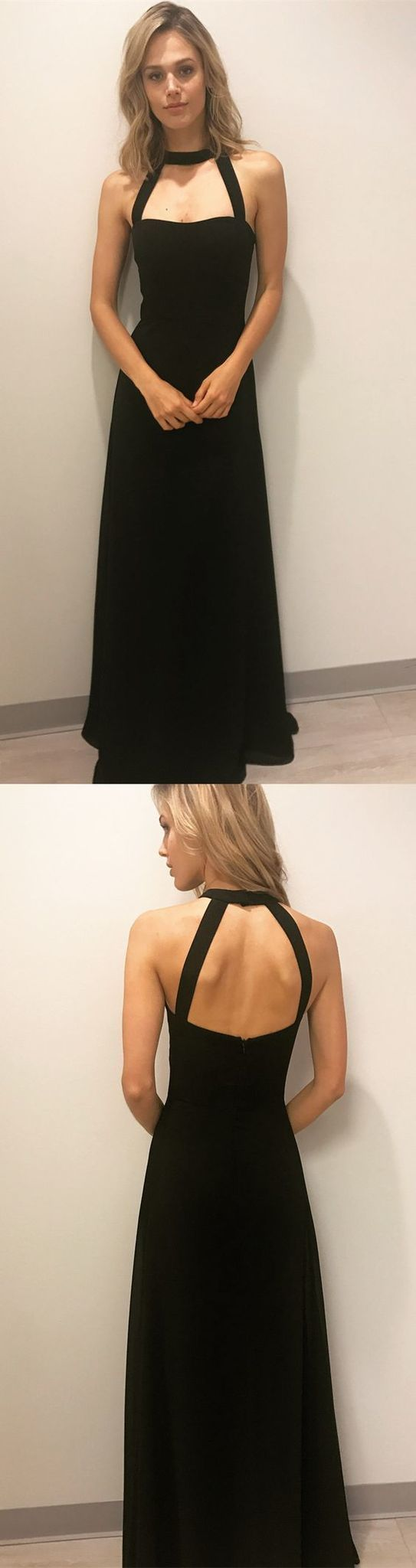 Long black prom dresses, party dresses, formal evening dressse 1142