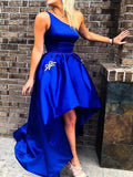 Royal Blue Satin Prom Dresses Wedding Party Dresses 1212