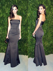Black long prom dress, Mermaid Prom Dress black evening dress 1235