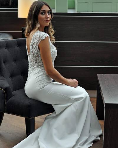 Mermaid Ivory Prom Dresses, Custom Made Prom Gown 1368