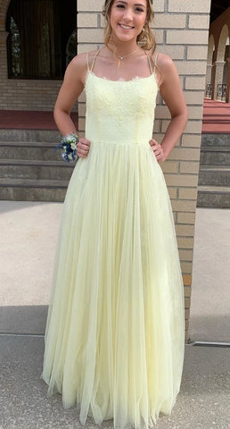 Yellow Prom Dress 2020, Prom Dresses, Evening Dress, Dance Dress, Graduation School Party Gown 1551