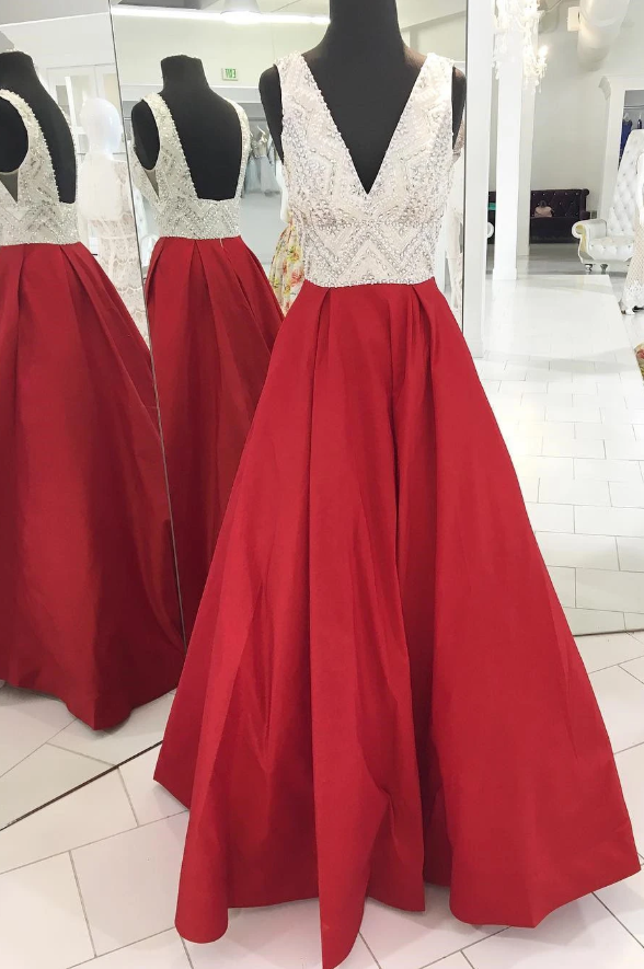 Red Prom Dress 2020, Evening Dress ,Winter Formal Dress, Pageant Dance Dresses, Graduation School Party Gown 1553