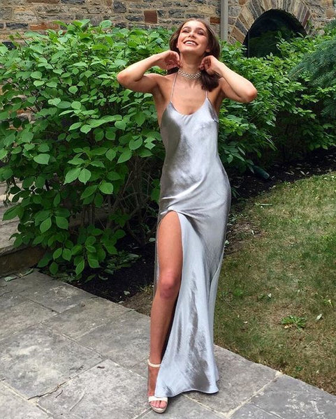 A-line Prom Dresses,Prom Dresses with Slit 1843