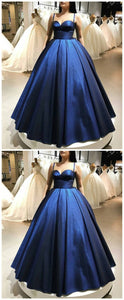 Spaghetti Straps Sweetheart Neckline Ball Gown Prom Dress, Long Prom Dress,Prom Dresses 1858