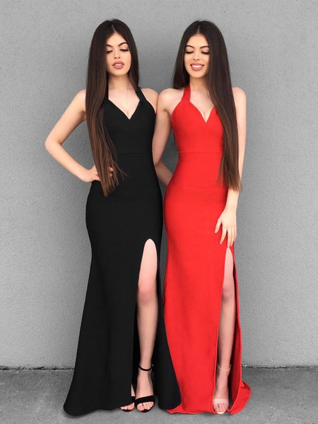 Custom Made Black/Red Mermaid Prom Dresses, Black/Red Mermaid Formal Evening Graduation Bridesmaid Dresses 2831