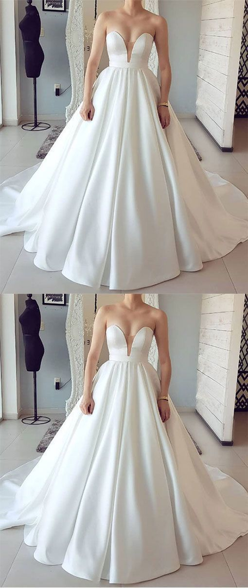 Sweetheart Sleeveless Bridal Dresses, Sexy Ball Gown Wedding Dresses.2979