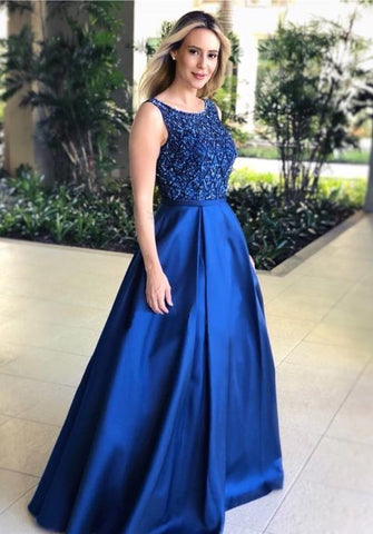 Beaded Long Prom Dresses,3348