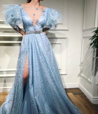 Blue Prom Dresses Long Party Dress,3351