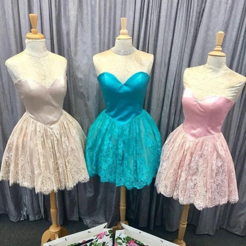 Sweetheart Mini Graduation Dresses 2018 Homecoming Dresses,5206