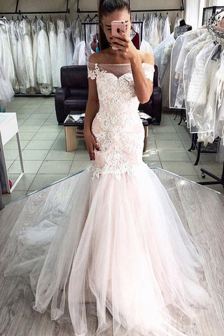 Elegant Lace Formal Mermaid Wedding Dress Bridal Gown,5251