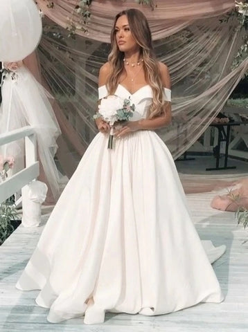Elegant Off Shoulder Formal Wedding Dress Bridal Gown,5252