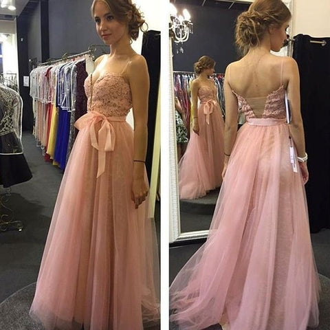 Charming Prom Dress, Sexy Prom Dresses, Tulle Pink Lace Homecoming Dress, Elegant Prom Dresses,5623