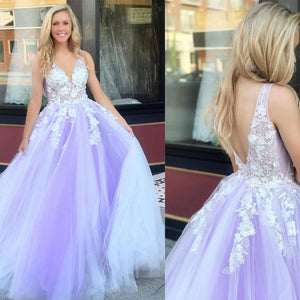 Charming Prom Dress,Tulle Prom Dress,A-Line Prom Dress,Appliques Prom Dress,5968