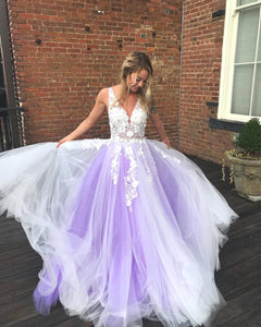 Charming Prom Dress,Tulle Prom Dress,A-Line Prom Dress,Appliques Prom Dress.5971