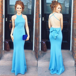 High Quality Prom Dress,Halter Prom Dress,Backless Prom Dress,Satin Evening Dress,6044